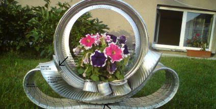 Kwietnik Z Opon Moj Piekny Ogrod Ogrody Ozdobne Rosliny Kwiaty
