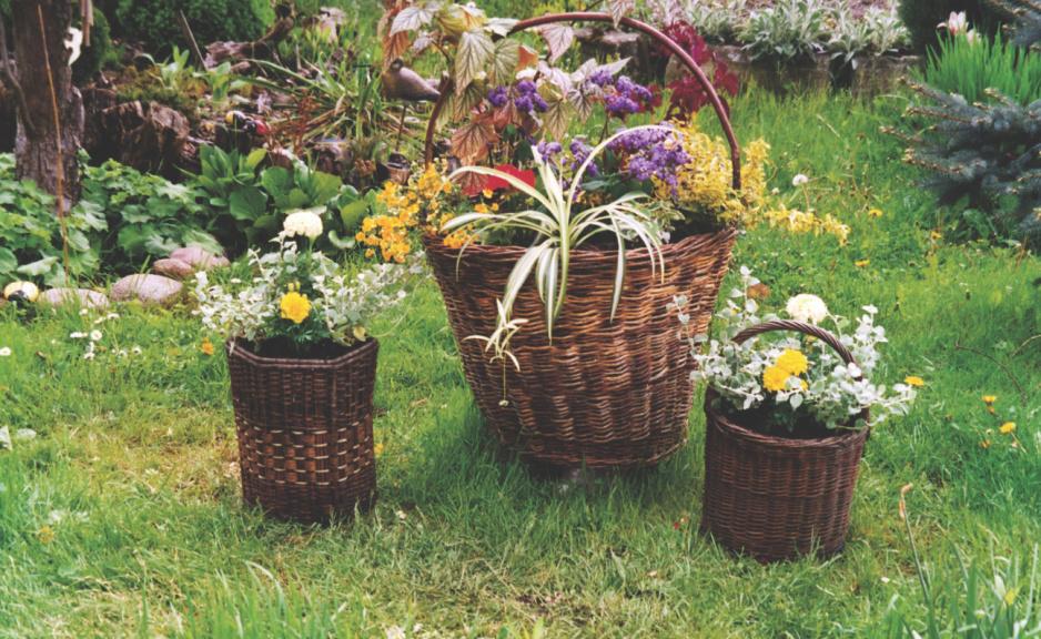 Pomysłowe Kwietniki Z Wikliny Mój Piękny Ogród Ogrody